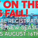 General registration for Fall season starts August 16!