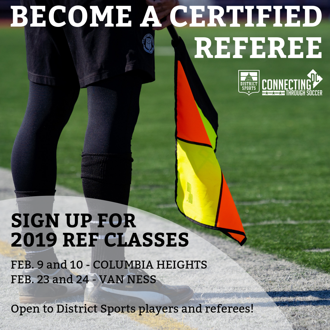 This Is Your Chance To Become A Referee District Sports Soccer