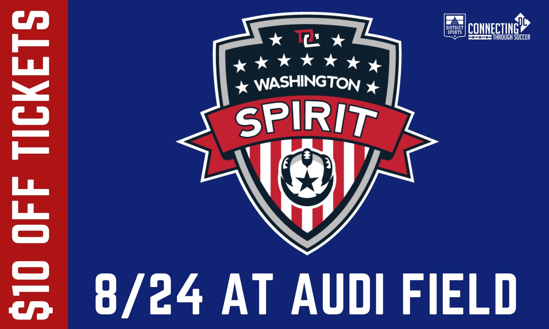 Washington Spirit – Discount Tickets at Audi Field!