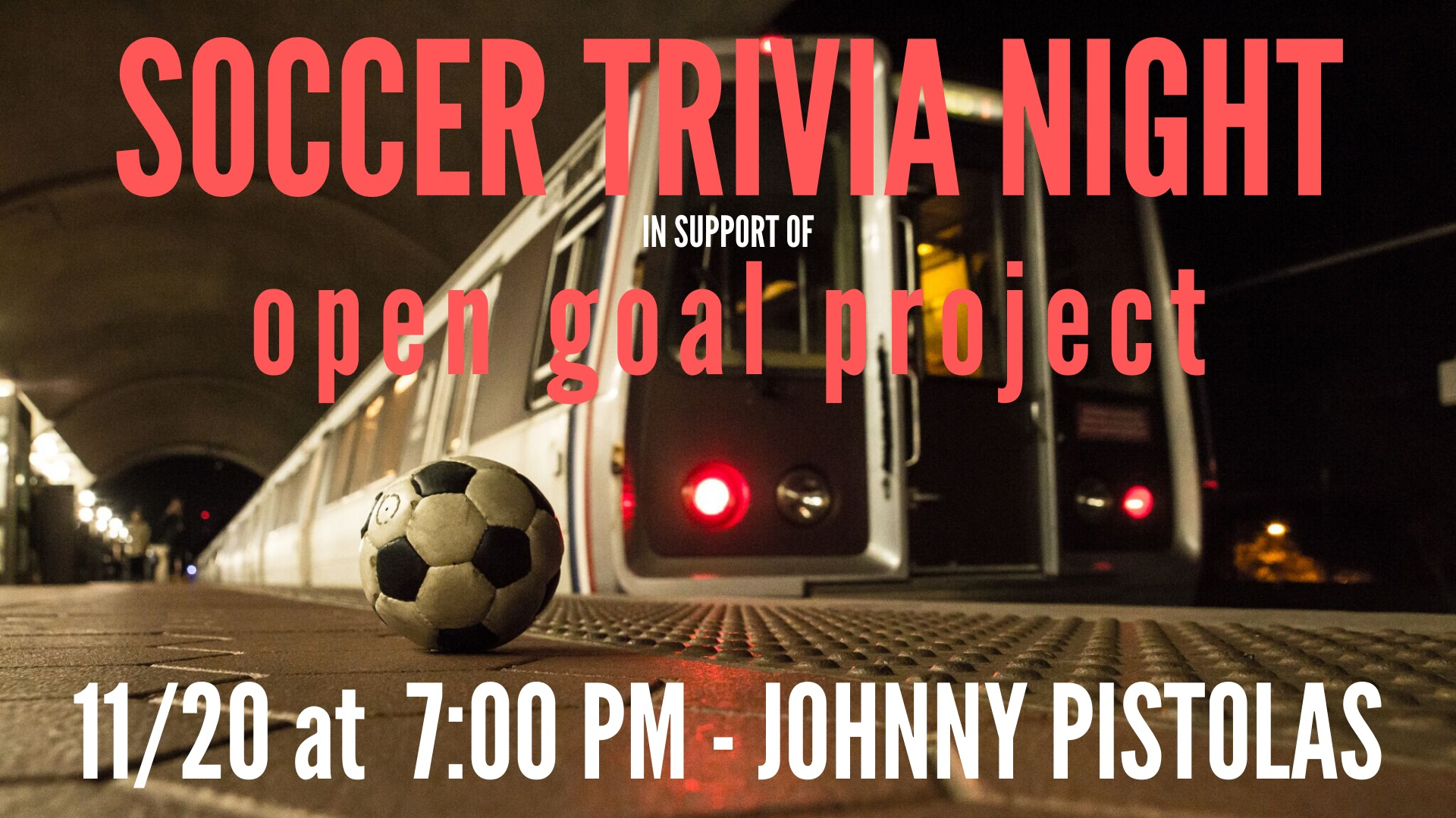 Soccer IQ and Margaritas at Soccer Trivia Night – Wednesday 11/20!