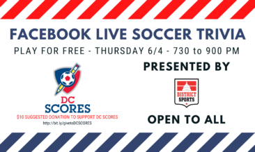 Online Soccer Trivia to Benefit DC SCORES – 6/11 at 7:30 PM