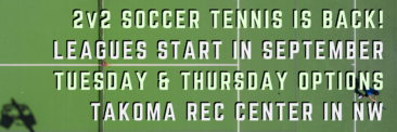 September Soccer Tennis Leagues!