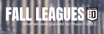 Fall Soccer Leagues – Where We Can Play Once DC Moves to Phase 3