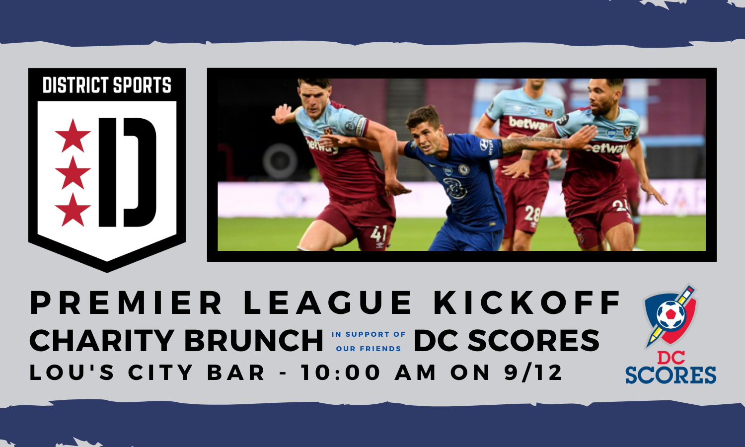 Premier League Kickoff – Charity Brunch to Support DC SCORES!