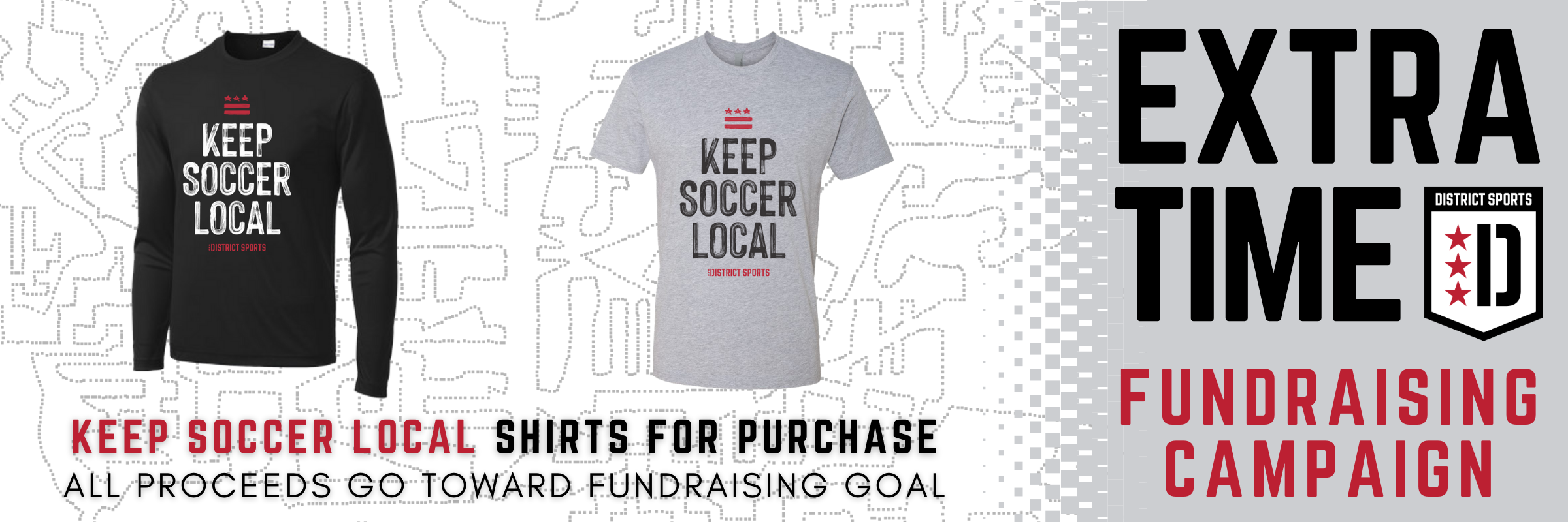 KEEP SOCCER LOCAL Shirts Available for Purchase!
