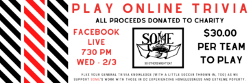 Online Charity Trivia Night – 2/3 at 7:30 PM!