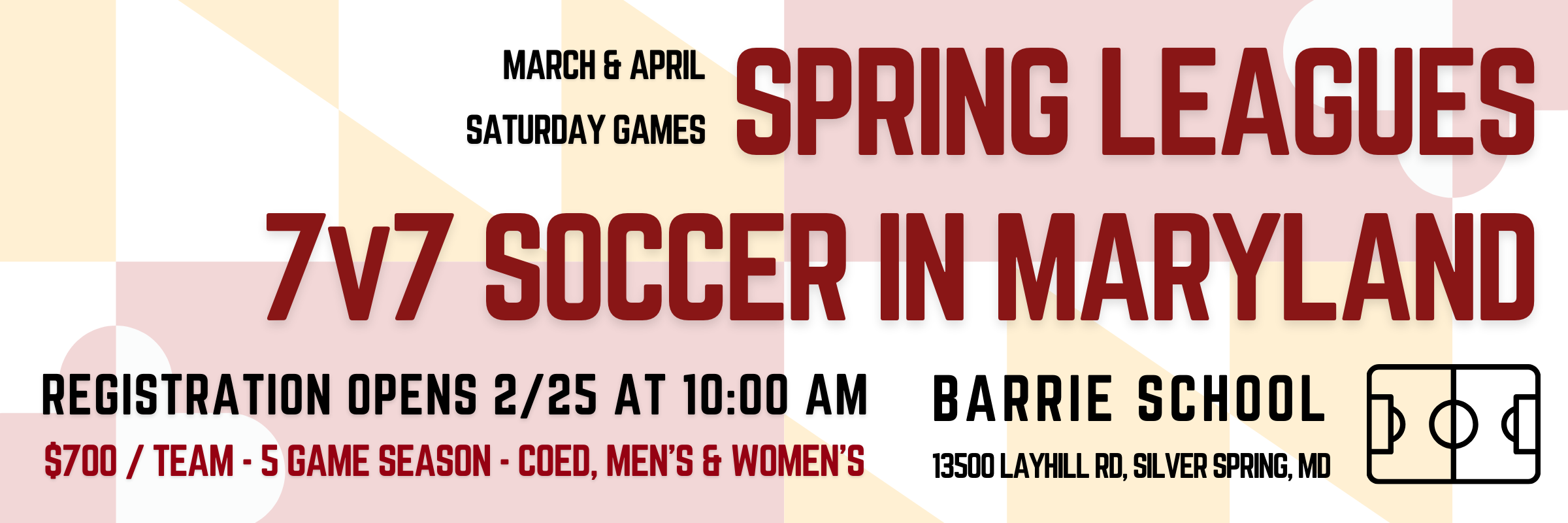 Spring 7v7 Soccer in Maryland!