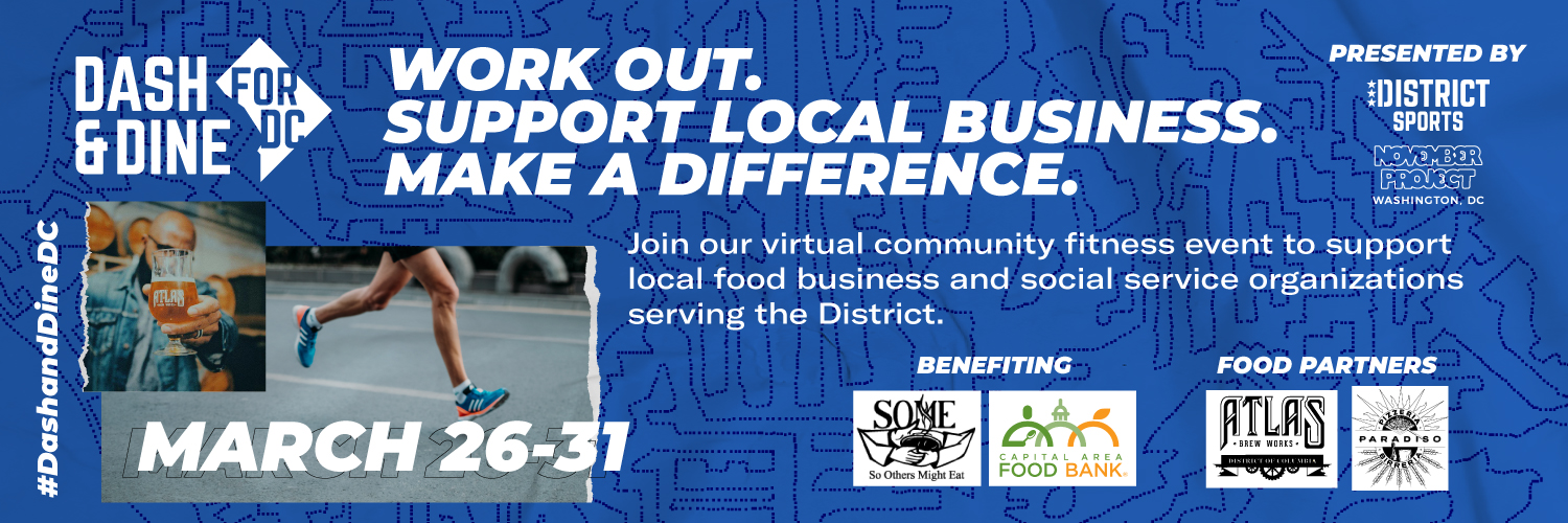 Community Event – Dash & Dine for DC: March 26th – 31st