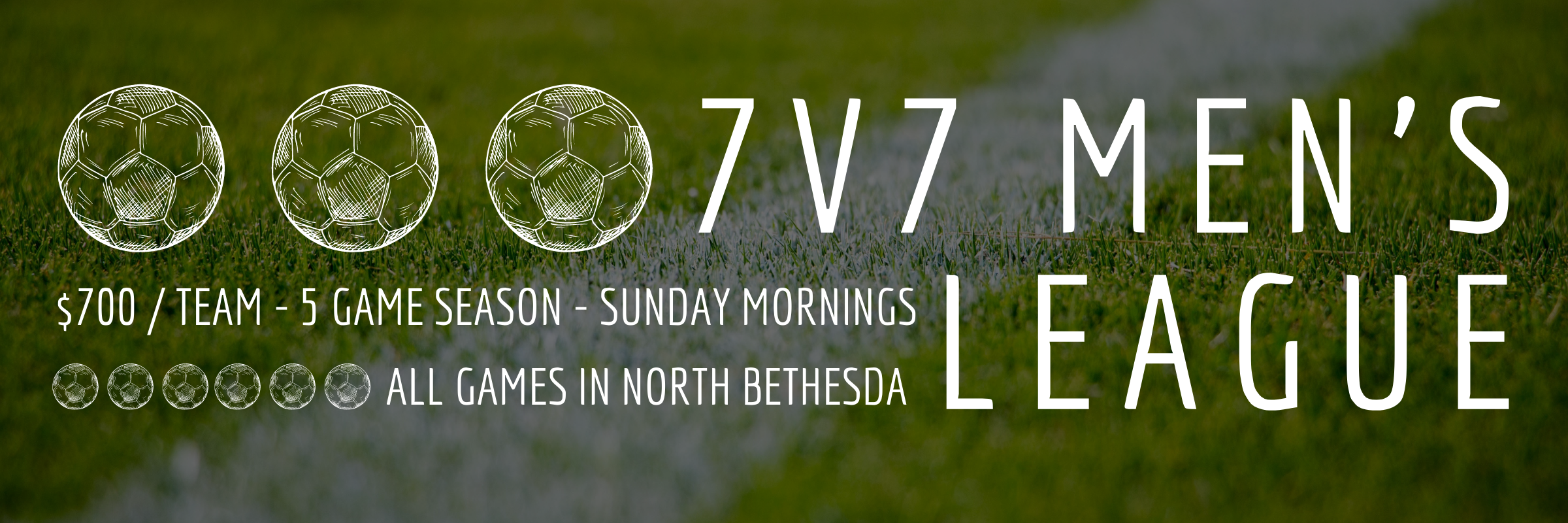Another New Spring League – 7v7 Men's on Sundays in MD!