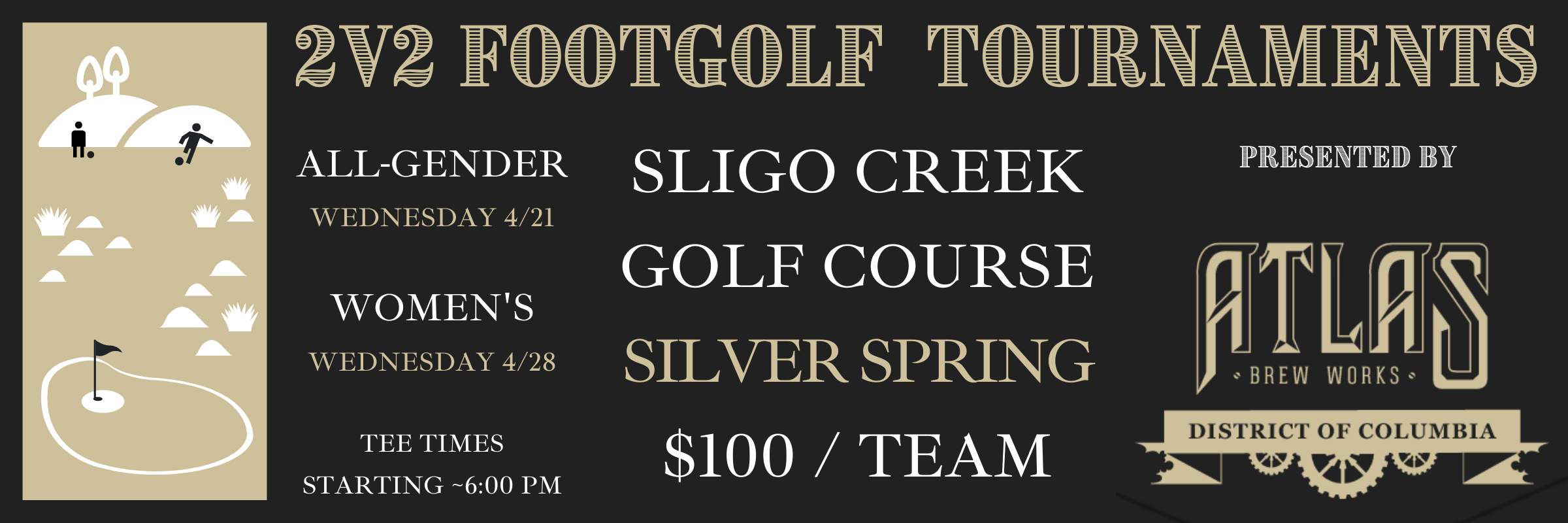 2v2 FOOTGOLF TOURNAMENTS presented by ATLAS BREW WORKS in Ivy City