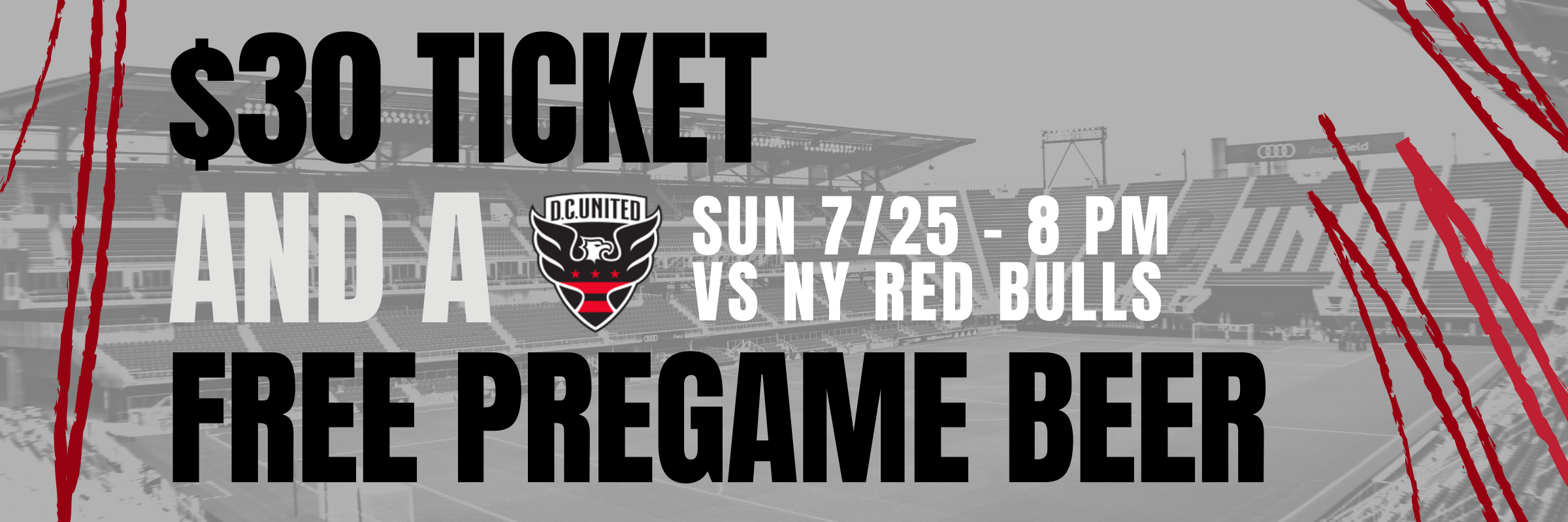 7/25 – $30 DC United Ticket + Free Beer from Atlas Brew Works!